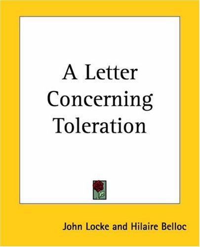 Download A Letter Concerning Toleration