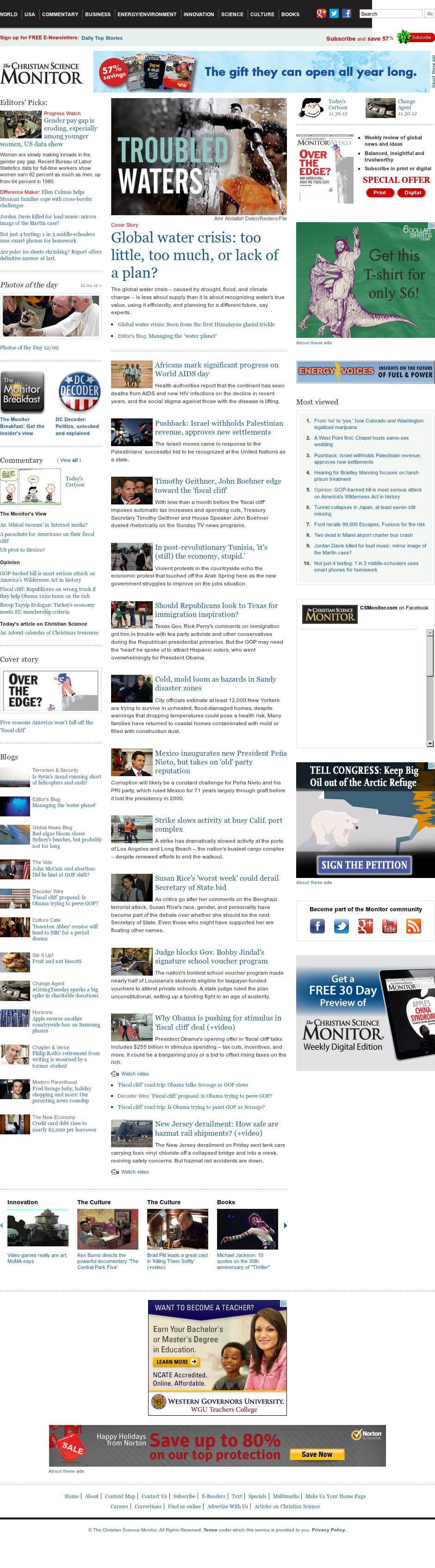 The Christian Science Monitor at Monday Dec. 3, 2012, 3:06 a.m. UTC