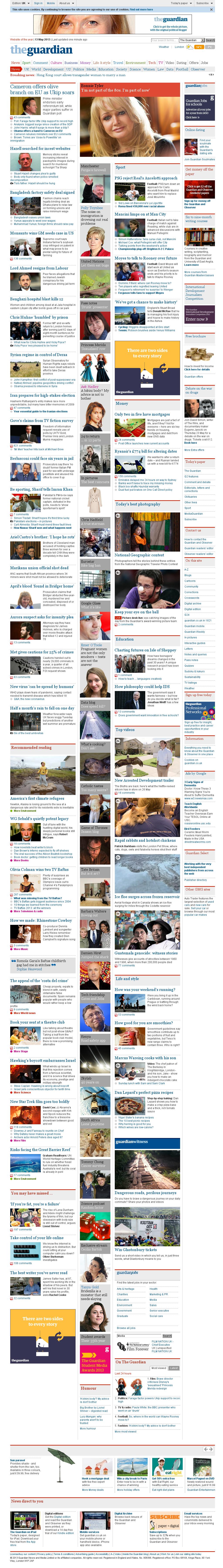 The Guardian at Monday May 13, 2013, 9:08 p.m. UTC