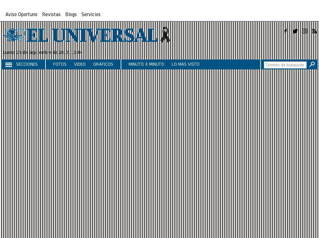 El Universal at Monday Sept. 25, 2017, 6:46 p.m. UTC