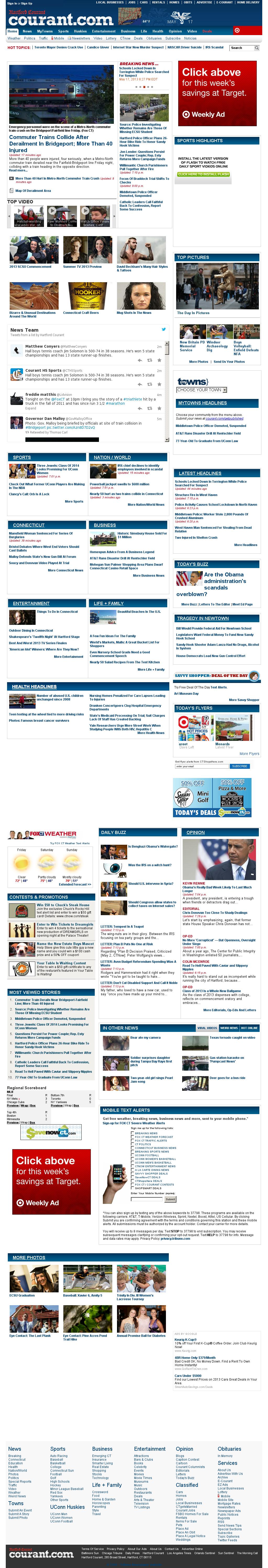 Hartford Courant at Saturday May 18, 2013, 1:10 a.m. UTC