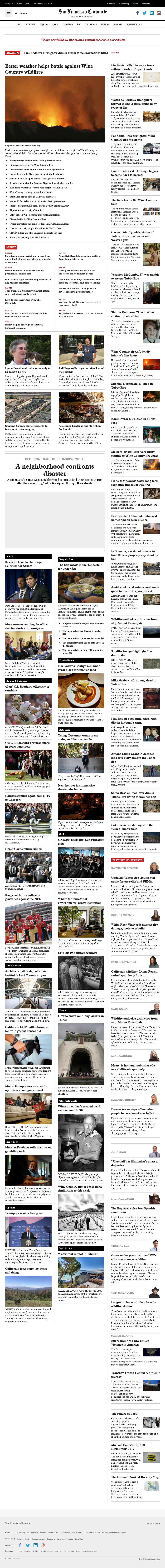 San Francisco Chronicle at Monday Oct. 16, 2017, 4:15 p.m. UTC