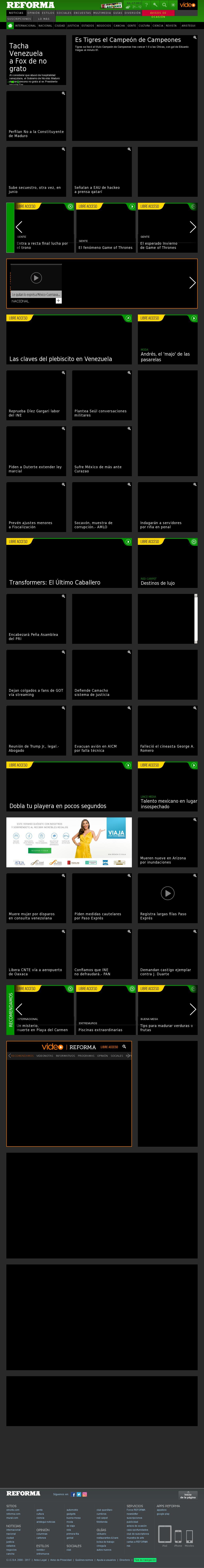 Reforma.com at Monday July 17, 2017, 7:26 a.m. UTC