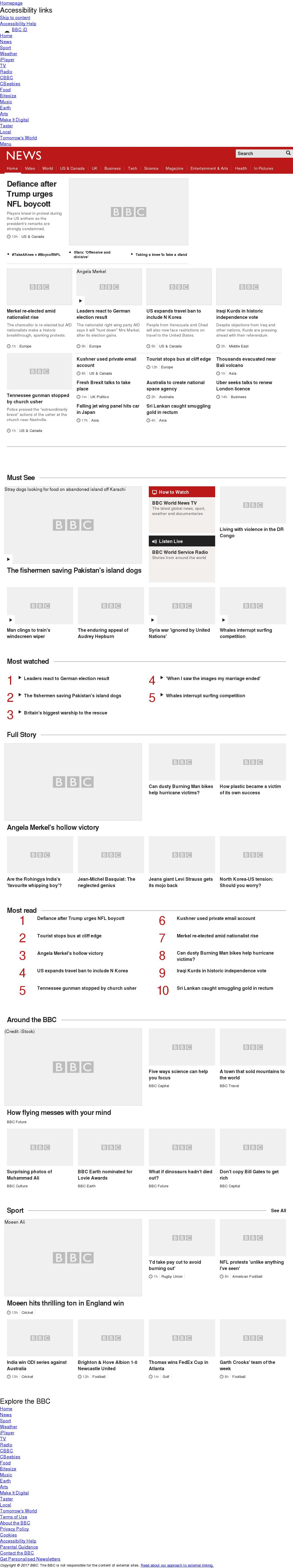 BBC at Monday Sept. 25, 2017, 8 a.m. UTC