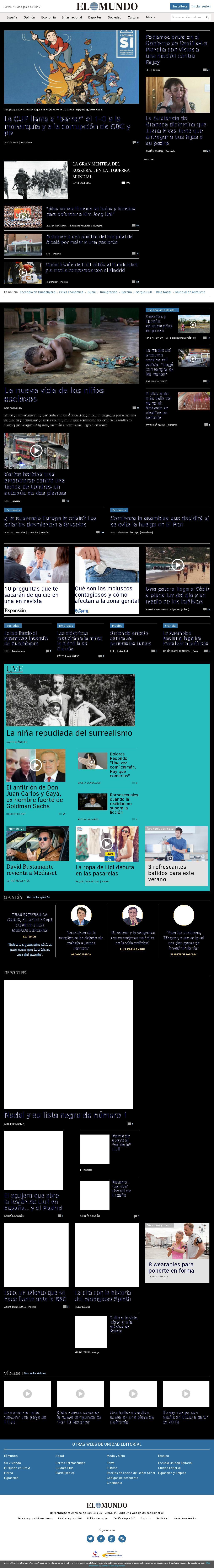El Mundo at Thursday Aug. 10, 2017, 12:11 p.m. UTC