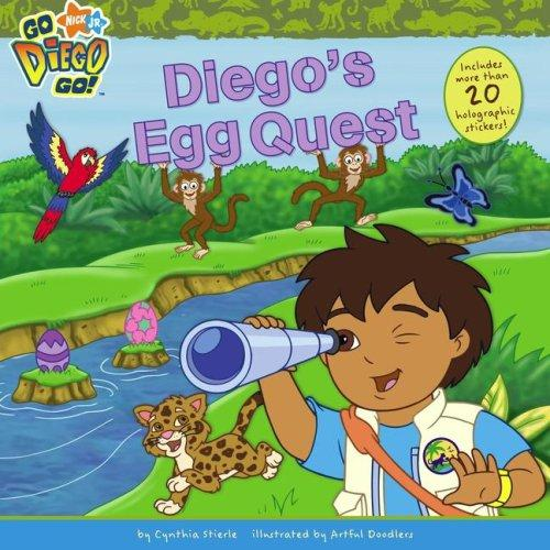 Diego's egg quest by Cynthia Stierle, Artful Doodlers